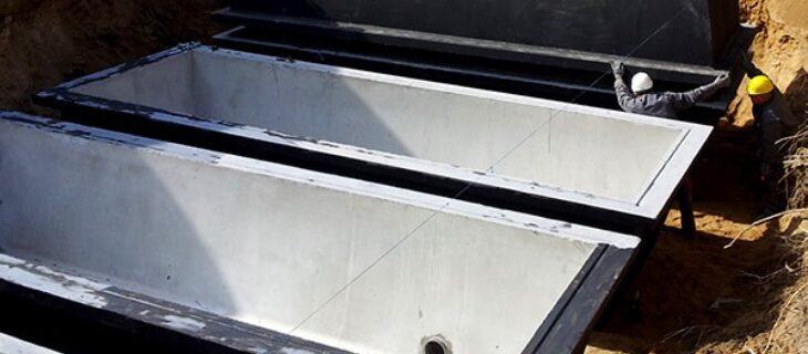 Zbiorniki na nieczystosci 4 x 24 m3 realizacja sienkiewicz
