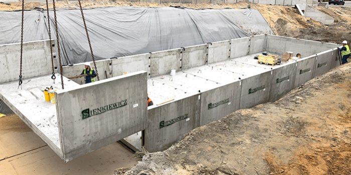 Zbiornik skladany 280 m3 realizacja sienkiewicz