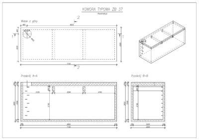 Zbiornik 680 X220 X250 konstrukcja