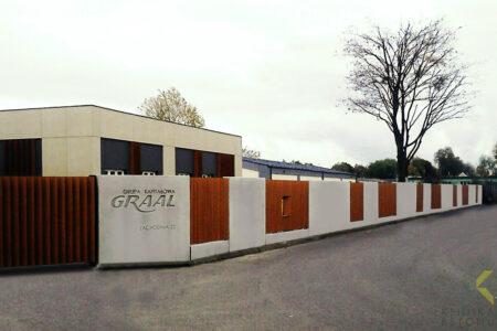 Klinika betonu ogrodzenie