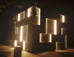 Klinika betonu elewacja betonowa podswietlana instytut audiowizualny compressed