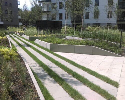 Murki oporowe osiedle kierbedzia warszawa realizacja klinika betonu